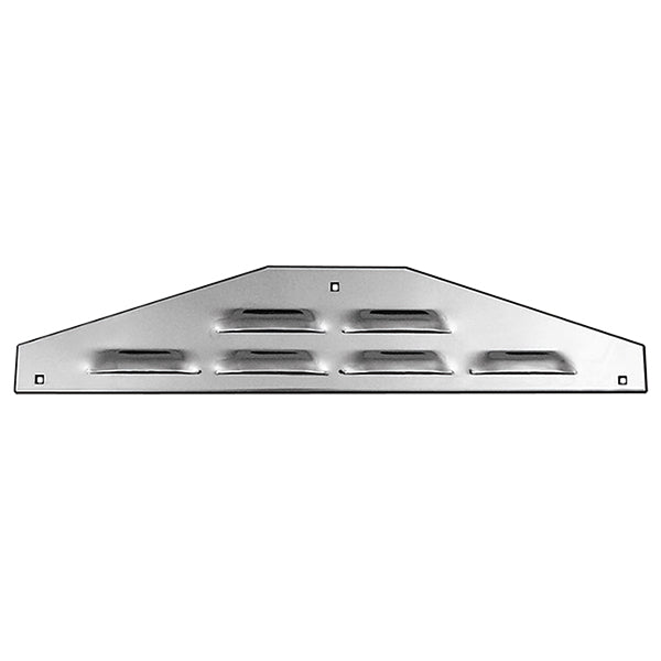 "24"" stainless steel bottom plate w/louvers, 3 bolt holes, backs - PAIR"