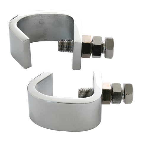 Stainless steel bumper guide mounting clamp