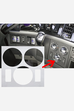 Volvo stainless steel air conditoner/heater control panel cover