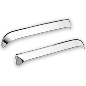 Peterbilt 386/389 stainless steel door window ventshade rain deflector - PAIR