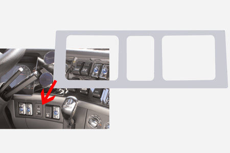 Volvo stainless steel lower right dash panel