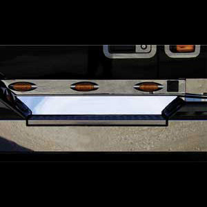 Volvo VN 2003+ stainless steel front kick panel - PAIR