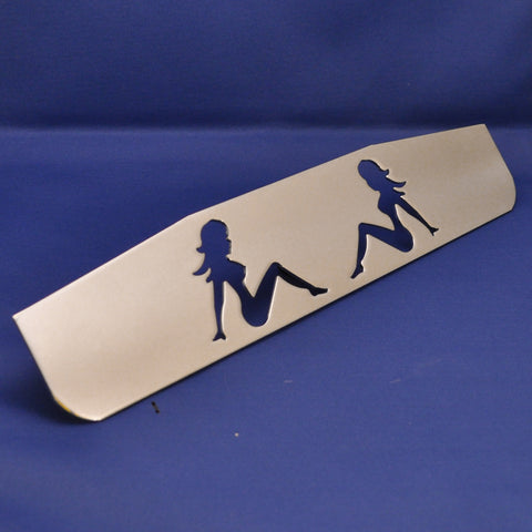 "16"" chrome bottom plate w/sitting nude cutouts - stud mount"
