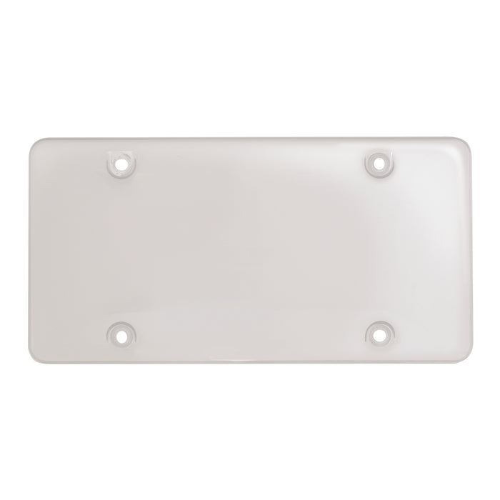 Clear plastic license plate protector - bubble style