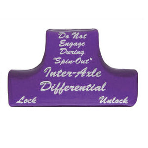 "Freightliner Classic/FLD ""Inter-Axle Differential"" glossy sticker for switch guards"