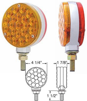 Amber/Red 21 diode LED turn signal light