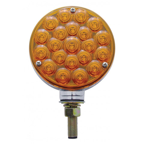Amber/amber 21 diode LED double-face pedestal turn signal light