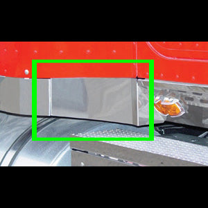 International stainless steel angled under cab-to-sleeper trim - PAIR