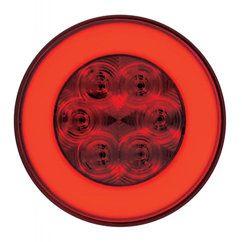 """Halo"" Red 4"" round LED stop/turn/tail light"