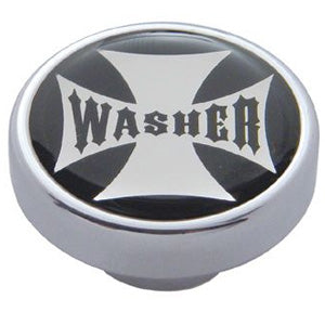 """Washer"" iron cross glossy sticker for small chrome knobs"