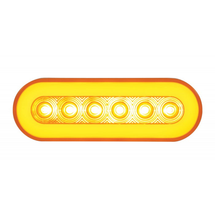 """Halo"" Amber 22 diode oval LED turn signal light"
