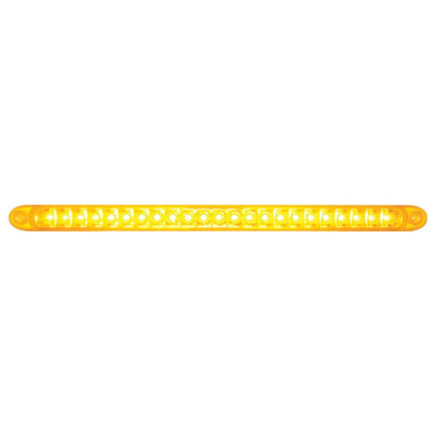 "Amber 17"" long 23 diode LED turn signal light bar w/reflector"