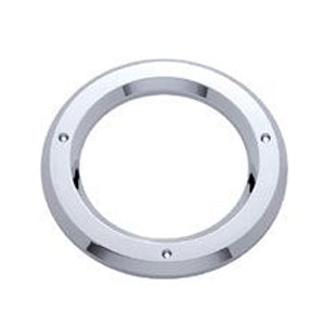 "4"" round chrome plastic light bezel grommet cover"