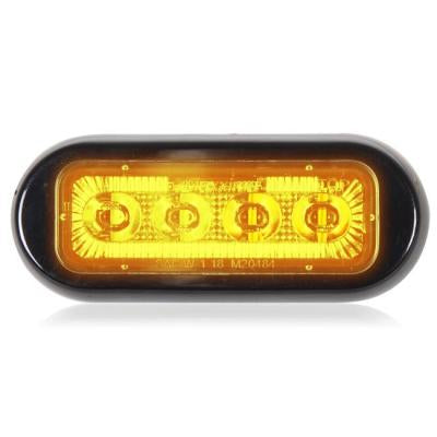 "Maxxima Amber 8 diode 3.8"" x 1.5"" low profile surface mount LED strobe light"