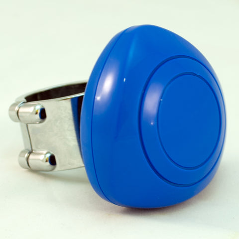 Blue plastic steering wheel spinner knob