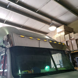 "Freightliner Century/Columbia 2004+ condo/midroof 17"" drop visor w/8 combo light holes ONLY"
