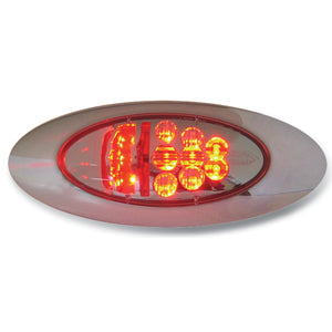 Spyder Red y2k LED stop/turn/tail light - CLEAR lens
