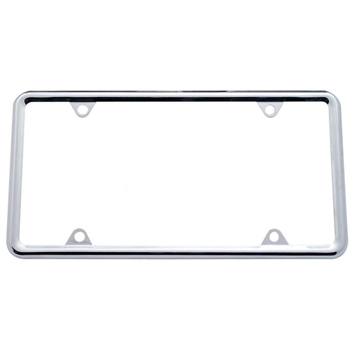 Chrome license plate frame w/plain design