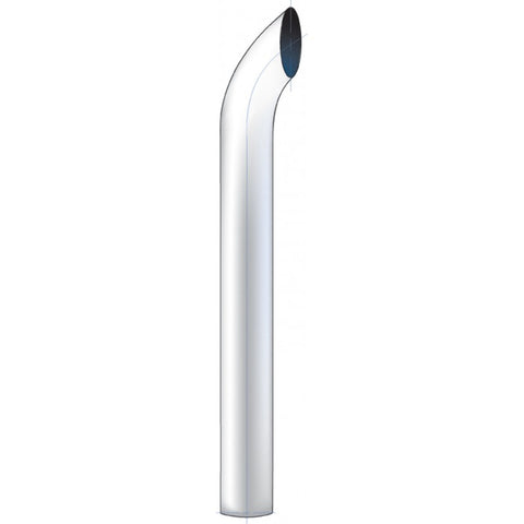 "48"" tall curve out chrome exhaust tip - 7"" diameter, reduces to 5"""