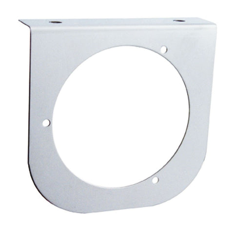 "Stainless steel light bracket w/1 round 4"" light hole - rounded edge"