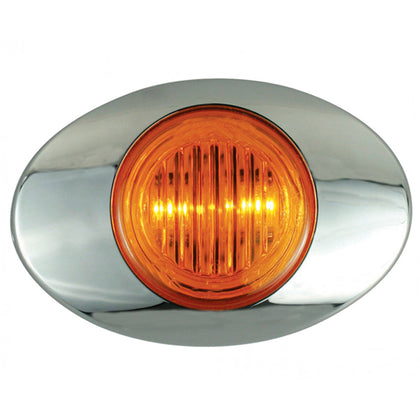 M3 Generation Amber 2 diode LED mini-oval marker light