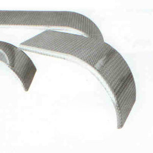 "1/10"" Aluminum diamond plate 54"" half fenders - PAIR"