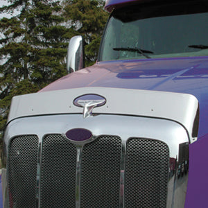 Peterbilt 387 stainless steel bug deflector