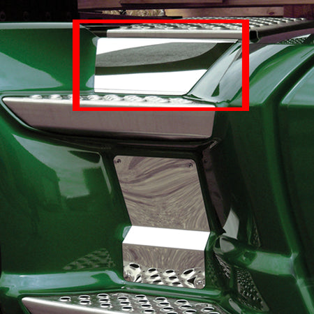 Kenworth T660/T680/T700 stainless steel back step trim - upper panel