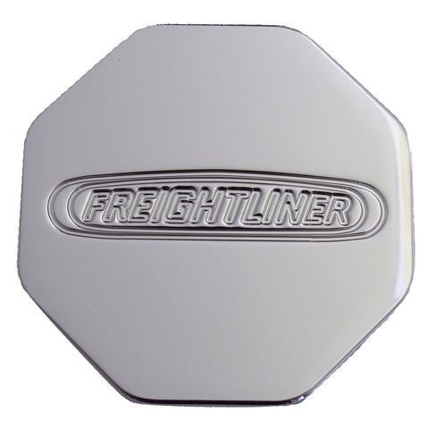 Freightliner logo chrome billet aluminum octagon-shaped brake knob - SINGLE