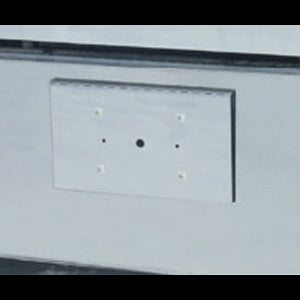 Peterbilt 379 / Freightliner Classic/FLD stainless steel single license plate holder/tow pin cover