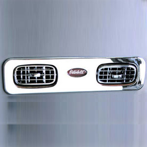 Peterbilt 386/389 chrome plastic passenger side vent trim