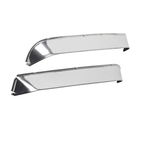 Freightliner Classic/FLD stainless steel ventshade rain deflector - extra wide width, PAIR