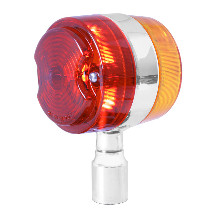 Amber/Red incandescent light bumper guide top