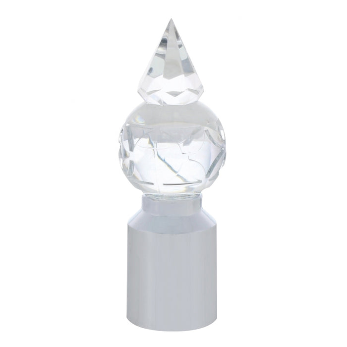 Clear crystal ball pyramid bumper guide topper w/chrome base - PAIR