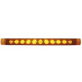 "17"" Amber 11 diode LED turn signal light bar"