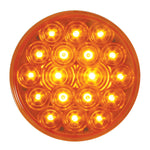 """Fleet"" Amber 4"" round 18 diode LED turn signal light"