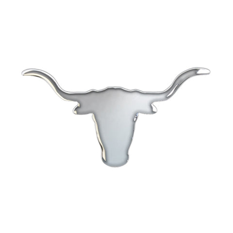 Chrome small Texas-style longhorn cutout - tape mount