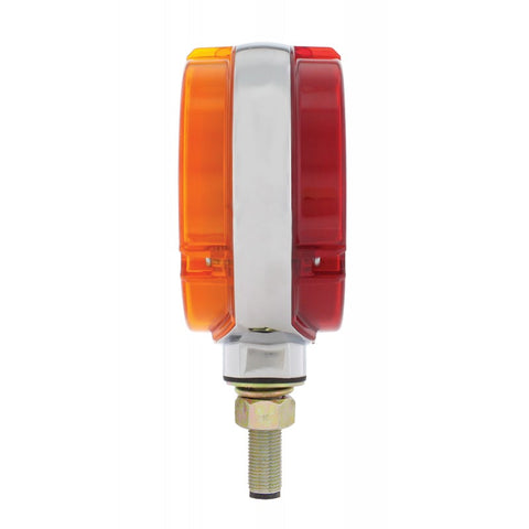 """Halo"" Amber/Red 54 diode LED pedestal turn signal light"