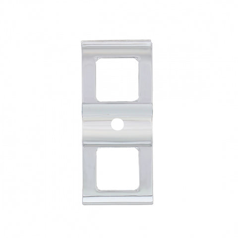 Freightliner Cascadia chrome plastic rocker switch cover w/small hole for indicator light - PAIR
