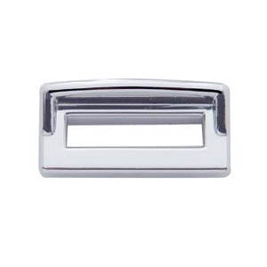 Peterbilt -2000 chrome plastic switch label cover w/visor - 6/PACK