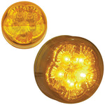 "Amber 2"" round 5 ""super diode"" LED marker light"