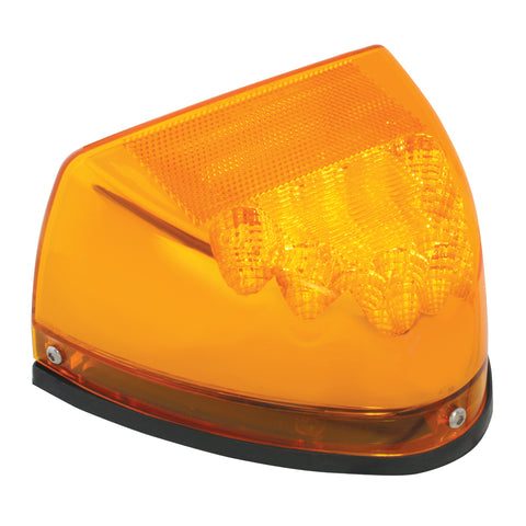 Spyder Amber LED turn signal for dual rectangular headlight