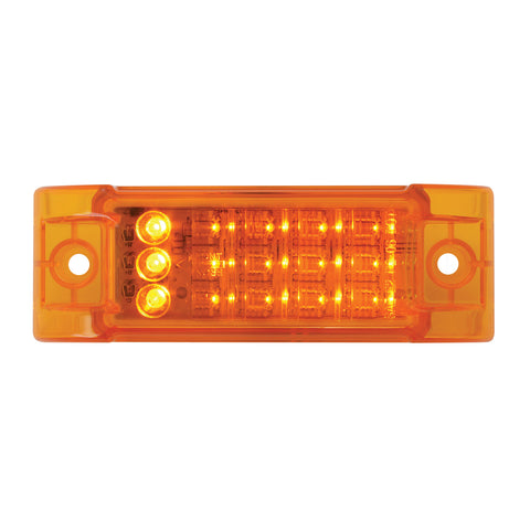 "Amber 2"" x 6"" rectangular LED turn signal light"