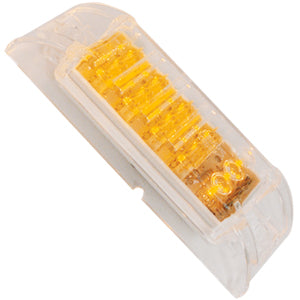 "Amber 2"" x 6"" rectangular LED turn signal light - CLEAR lens"
