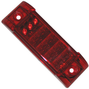 "Red 2"" x 6"" rectangular LED flush mount stop/turn/tail light"