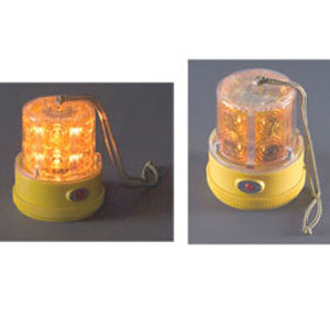 Amber 24 diode LED portable magnetic flashing beacon light