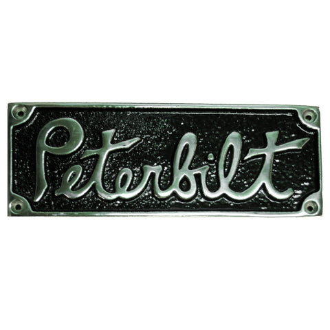 Peterbilt old-style rectangular emblem - black