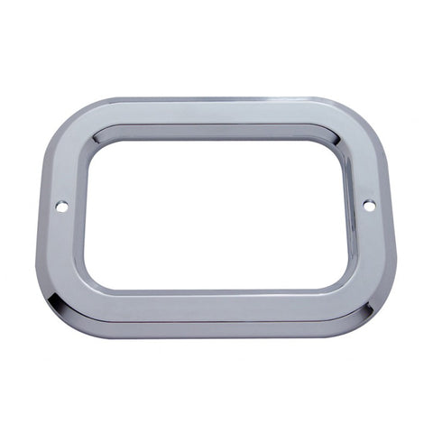 Rectangular chrome plastic light bezel