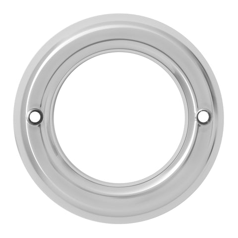 "2"" round chrome plastic light bezel without visor"