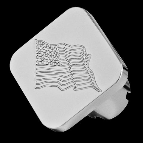USA Flag chrome billet aluminum brake knob - SINGLE